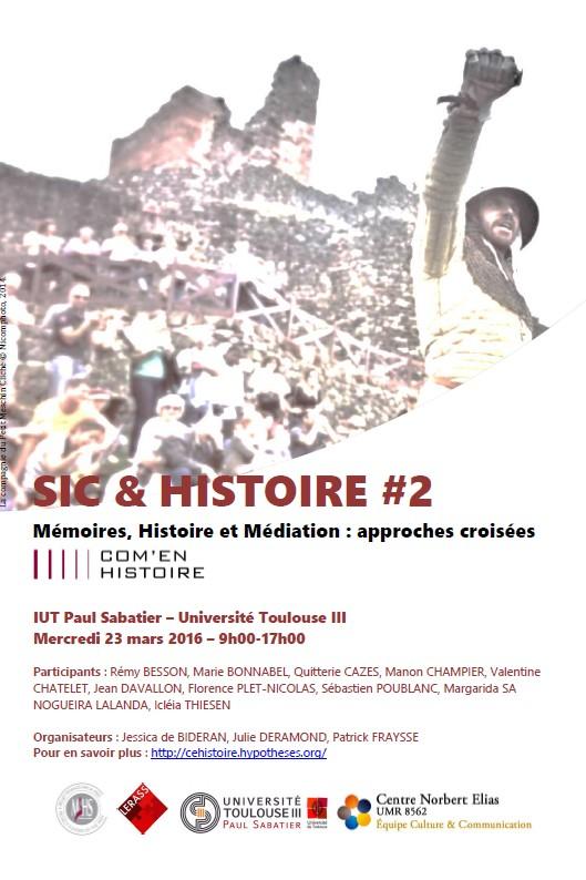 Nos journées d'études – Sic&Histoire#2